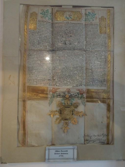 Hrisov Domnesc al lui Mihai Racovita la 1731