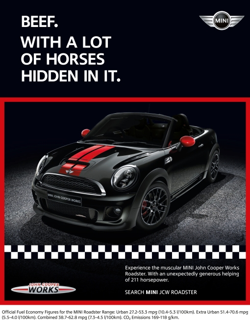 Cow & Horses by Mini Cooper