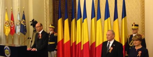 Familia Basescu si Presedintele Nicolae Timofti