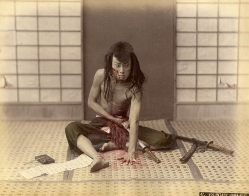 What's wrong in a fake seppuku, one may ask ...