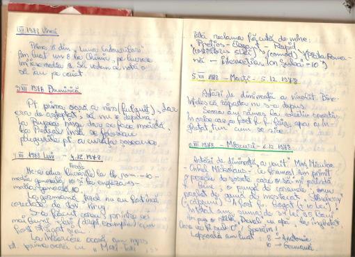 """Jurnal personal - 1978. Prima atestare documentara a utilizarii cuvantului """"reclama"""" ..."""
