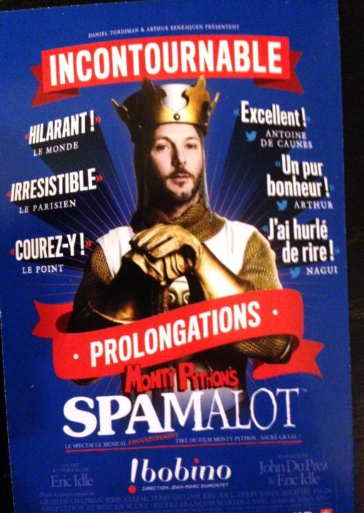 Spamelot, un Camelot vazut din alt unghi ... cel al grupului Monthy Python (inventatorii notunii de SPAM)