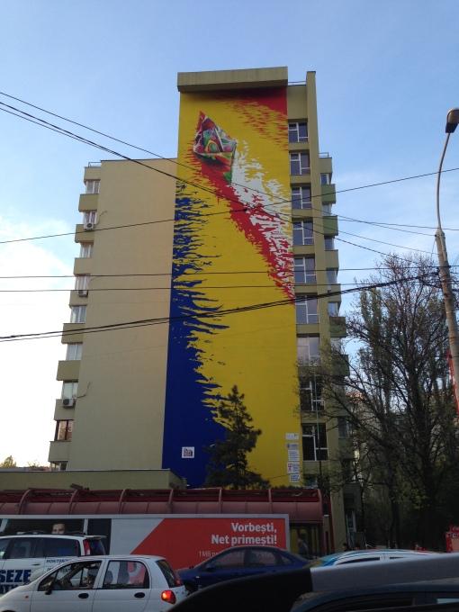 Trecut si Viitor pe Bulevardul Iuliu Maniu. Arta urbana.