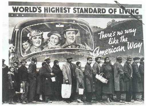Una din pozele care au făcut carieră în campaniile împotriva capitalismului ... Însă cozi au existat și în socialism. Există o altă cale?