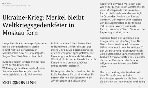 Merkel nu merge la Moscova!