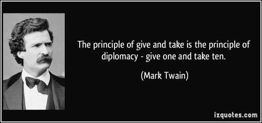 Mark Twain on Diplomacy