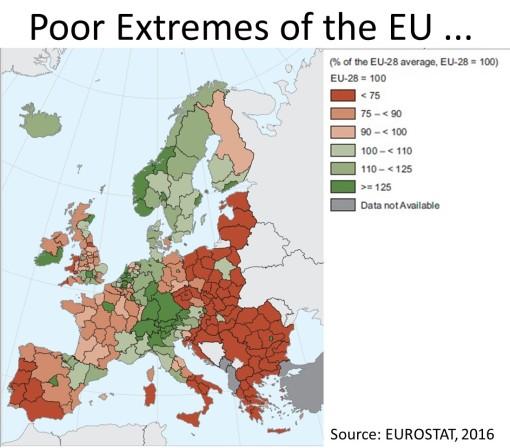 Saraca Europă bogată