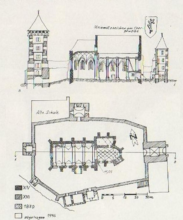 Planurile Bisericii Evanghelice fortificate din Valchid