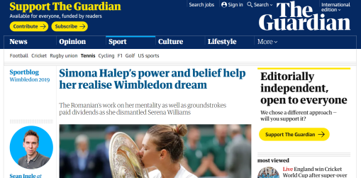 the guardian simona halep